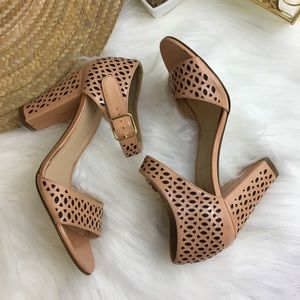 J. Crew Vega Patent Perforated Sandal